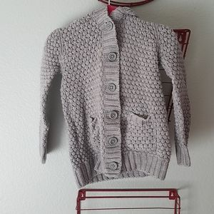 Grey knitted butten up sweater